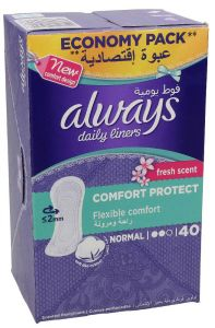 Always Normal Fresh Scent Comfort Protect Daily Liner