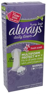 Always Normal Fresh Scent Multiform Protect Daily Liner