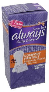 Always Normal Individual Wrapped Comfort Protect Daily Liner