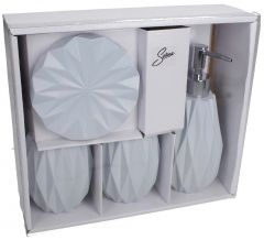 Selena Blue Bathroom Accessories Set