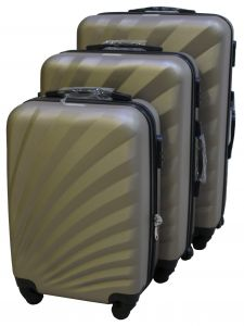 Travel Plus Sunshine Hard Case Champaign Trolley