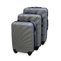 Travel Plus Sunshine Hard Case Silver Trolley