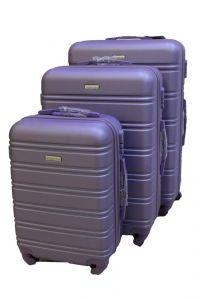 Travel Plus Stripe Hard Case Purple Trolley