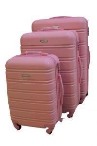Travel Plus Stripe Hard Case Pink Trolley
