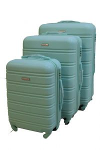 Travel Plus Stripe Hard Case Turquoise Trolley