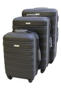 Travel Plus Stripe Hard Case Black Trolley