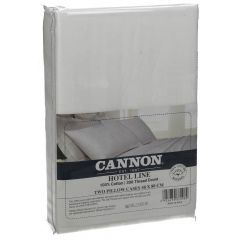 Cannon 100% Cotton Two Pillow Cases Set