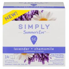 Summers Eve Simply Lavender Chamomile Feminine Cloth