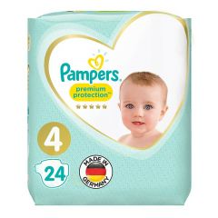Pampers Size No. 4 Premium Protection Diapers 7-18 Kg