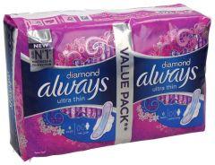 Always Diamond Ultra Thin Extra Long Sanitary Pads