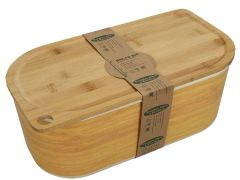 Bamboo Fibre White Bread Bin