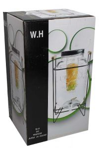 Glass Juice Dispenser With Stand