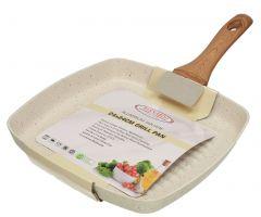 Hotsun Granite Creamy White Grill Pan