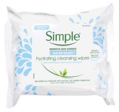 Simple Water Boost Hydration & Cleansing Wipes