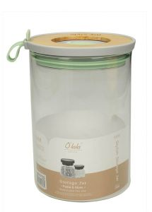 T&J Storage Jar With Bamboo Lid Medium Size