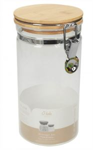 T&J Storage Jar With Bamboo Lid & Metal Lock
