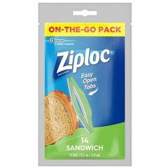 Ziploc Sandwich Bags 14 Pieces