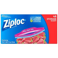 Ziploc Seal Top Storage Quart Bags 48 Pieces