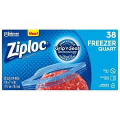 Ziploc Seal Top Freezer Quart Bags 38 Pieces