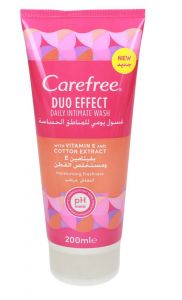 Carefree Dou Effect Daily Intimate Wash With Vit E & Cotton Extract