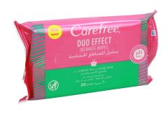 Carefree Dou Effect Intimate Wipes With Green Tea & Aloe Vera Extract