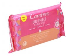 Carefree Dou Effect Intimate Wipes With Vit E & Cotton Extract