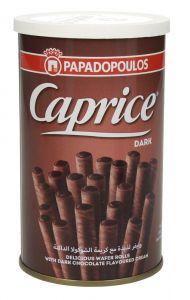 Caprice Dark Chocolate Flavoured Cream Wafer Rolls