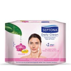 Septona Daily Clean Orchid Eyes & Face Cleansing Wipes