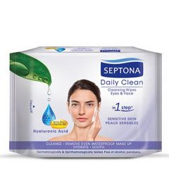 Septona Daily Clean Hyaluronic Acid Eyes & Face Cleansing Wipes