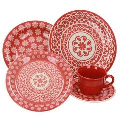 Oxford Moroccan Red Dinner Set