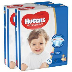 Huggies Size 4 Ultra Comfort Baby Diapers 8-14 Kg
