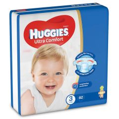 Huggies Size 3 Ultra Comfort Baby Diapers 4-9 Kg