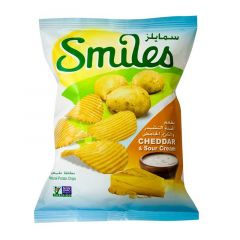 Smiles Cheddar and Sour Cream Natural Potato Chips