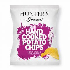 Hunter's Gourmet French Cheese & Red Onion Bits Hand Cooked Potato Chip