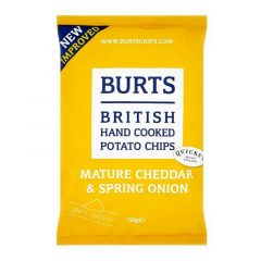 Burts Mature Cheddar & Spring Onion Hand Cooked Potato Chips