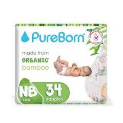 Pureborn Single Diapers New Born 0-4.5kg