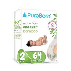 Pureborn Single New Born Diapers 3-6kg
