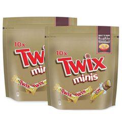 Twix Minis Chocolate Bar Twin Pack