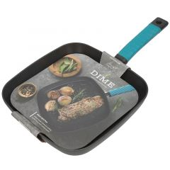 Dime Grill Pan With Silicone Handle