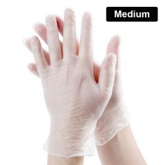 Latex Powdered Gloves Box - Medium