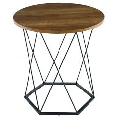 Brown Hexagon Coffee Table