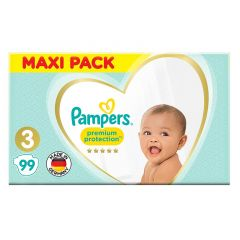 Pampers Size No. 3 Premium Protection Diapers Maxi Pack