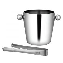 Venus Stainless Steel Ice Bucket With Tong