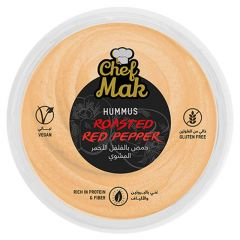 Chef Mak Gluten Free Roasted Red Peppers Hummus