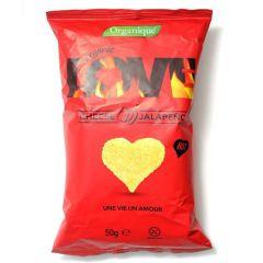 Organique Love Cheese Jalapeno Corn Snack