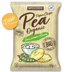 Mc Lloyd's Popiii Chips Organic Pea Sour Cream and Onion Snacks