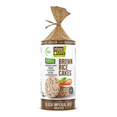 Rice Up Brown Rice Cakes With Unsalted Black Imperial Rice