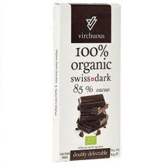 Virchuous Organic Swiss Dark 85% Cocoa Chocolate