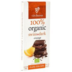 Virchuous Organic Swiss Dark Orange Chocolate
