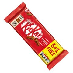 Nestle Kit Kat Milk Chocolate 5+1 Free
